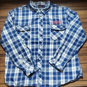 Stranger Things Flannel Button Up Size Medium